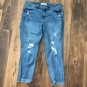 Maurices Ripped Ankle Jeans, good condition!